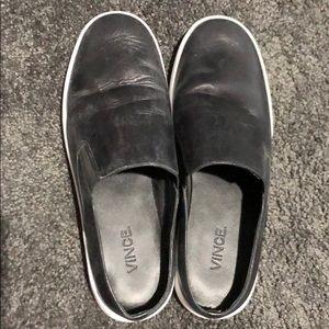 Vince slip on black shoes!
